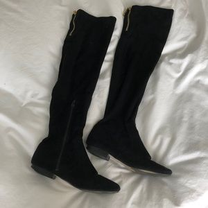 *FLASH SALE* Ivanka Faux Suede Over Knee Boots